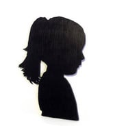 Custom Wood Profile Silhouette by HookUUpCustomCrafts on Etsy