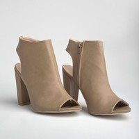Nyla Open-Toe Booties