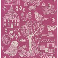 Heal&#x27;s | Designers Guild Boqueria Pink/White Rug &gt; Rugs &gt; Rugs &gt; Accessories