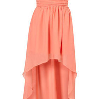 Mullet Hem Chiffon Bandeau Dress by Rare** - Brands at Topshop - Dresses - Clothing - Topshop