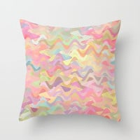 Confetti Spaghetti Throw Pillow by Lisa Argyropoulos | Society6