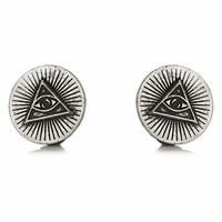 Engraved Eye in Triangle Collar Tips - TOPMAN USA