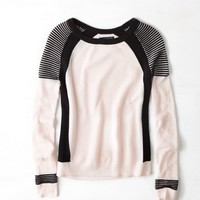 AEO Women's Colorblocked Crewneck Sweater