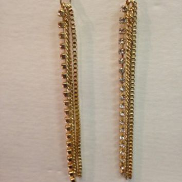 Multistrand Earrings- Gold