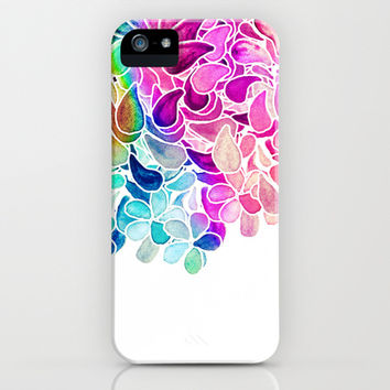 Rainbow Watercolor Paisley Floral iPhone   iPod Case by Micklyn
