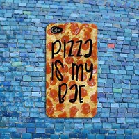 Funny Quote Cover Pizza is my Bae iPhone Case iPhone 4 4s iPhone 5 5s iPhone 5c