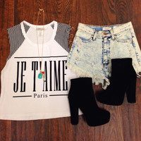 Je T'aime Crop Top