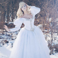 Sarahs Labyrinth Masquerade Movie Gown Custom Made Item Ice Queen Wedding Gown