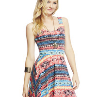 Aztec Tank Skater Dress | Wet Seal