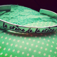 La crème de la crème french quote   bracelet 1/4 inch wide