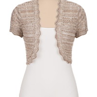 Marled yarn open stitch bolero