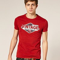 Jack & Jones Vintage | Jack & Jones Vintage Oil T-Shirt at ASOS