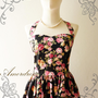 Amor Vintage Inspired Romantic Pink Floral Vintage by Amordress
