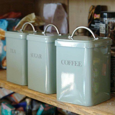 blue kitchen canister from graham and green