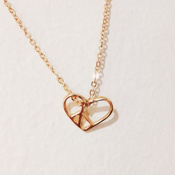 Heart necklace. Open heart necklace. pretzel bracelet. Love peace charm. love necklace. simple gift.