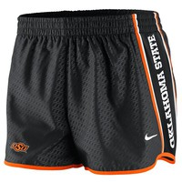 Nike Oklahoma State Cowboys Womens Chainmaille Pacer Performance Shorts - Black