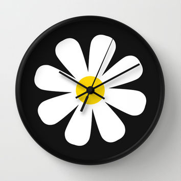 Daisy Wall Clock by Sara Eshak | Society6