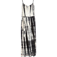 Black tie dye V neck cami maxi dress - maxi dresses - dresses - women