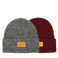 ASOS Beanie Hat with Patch 2 Pack - SAVE 13%