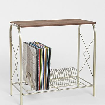 Vinyl Storage Table- Gold One