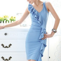 Blue Lotus skinny tight sleeveless dress