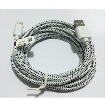 10 Feet Cable USB Charger Sync Cord for iPhone 5 10 Ft White