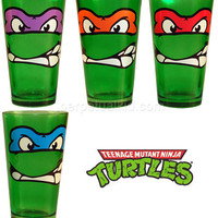 TEENAGE MUTANT NINJA TURTLE COLOR GLASS SET (4)