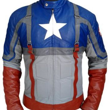 Steve Rogers Captain America the First Avenger Leather Jacket