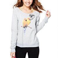 Tweeting Birds Sweatshirt - Grey Multi