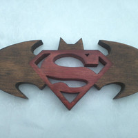 Batman &amp; Superman Logo  Two In One Custom Made 105 by CiscoScrolls