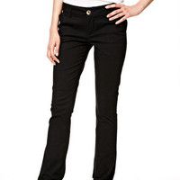 Taylor Twill Pants in Oatmeal - Black