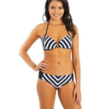 Nautica Broadside Triangle Bra Bikini Top and Broadside Tab Side Bikini Bottom