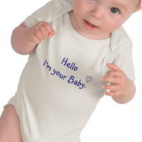 Hello I'm your Baby-line art T Shirt from Zazzle.com
