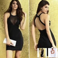 Sexy Night Club New Fashion Sleeveless Pretty Lady Dress