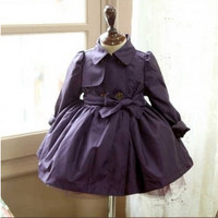 Vintage Inspired Girls Clothes Vintage Inspired Trench Coat | Vindie Baby