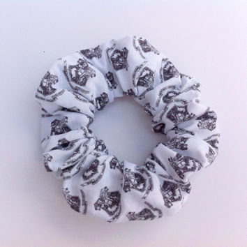 Harry Potter Inspired Hogwarts Crest Hair Scrunchie