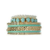 Azure Summer Bangle Set