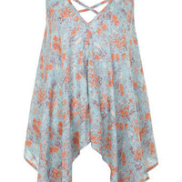 Floral Printed Hanky Hem Top - Clothing - New In - Miss Selfridge