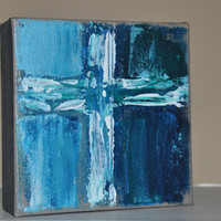 Acrylic Cross Painting on Canvas  5x5 Original by dlynnart on Etsy