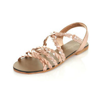 Felicity Leather Plait Flat - Sandals - Shoes - Miss Selfridge