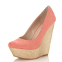 Whoop Coral Gliiter Wedge - View All - New In - Miss Selfridge