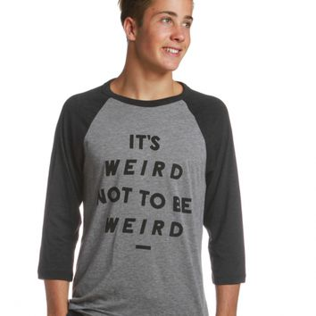 It's Weird Baseball Tee