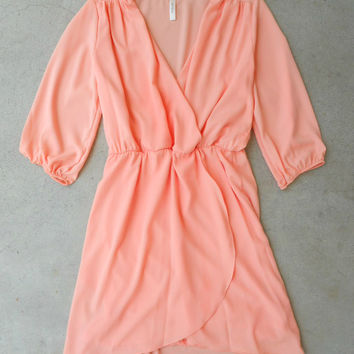 Perfectly Peach Dress [5818] - $33.60 : Vintage Inspired Clothing & Affordable Dresses, deloom | Modern. Vintage. Crafted.