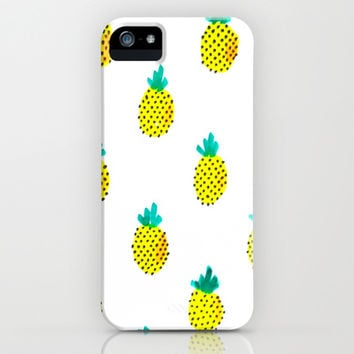 Pineapple Print Watercolor iPhone & iPod Case by Wildhumm | Society6