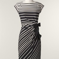 Bold stripes knit dress | Coldwater Creek