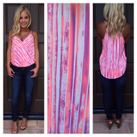 Savannah Sweetheart Neon Wrap Tank