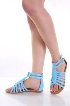 Light Blue Patent Faux Leather Braided Strappy Sandals @ Amiclubwear Sandals Shoes online store sale:Sandals,Thong Sandals,Women's Sandals,Dress Sandals,Summer Shoes,Spring Shoes,Wooden Sandal,Ladies Sandals,Girls Sandals,Evening Dress Shoes,Casual Sandal