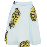 Pineapple Print A-Line Skirt by MSGM - Moda Operandi