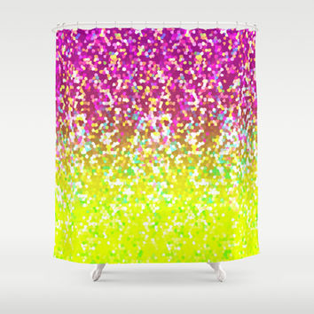 Glitter Graphic G224 Shower Curtain by MedusArt | Society6