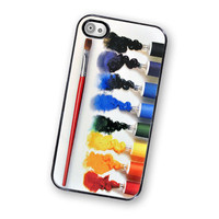 Oil Paint Set Hard IPhone Case, Fits IPhone 4 And IPhone 4S - Black Trim | Luulla